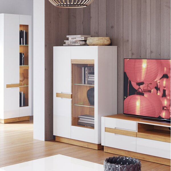 Avril 2 Doors Display China Cabinet by Orren Ellis