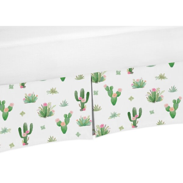 Cactus Floral Crib Bed Skirt by Sweet Jojo Designs