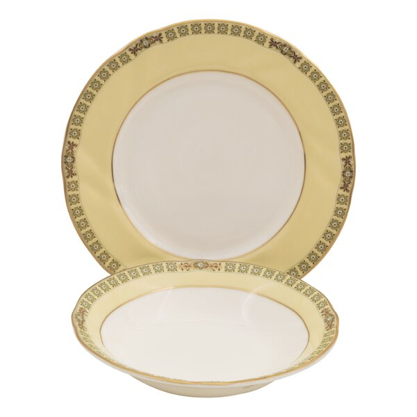 Cassabianca Bone China 24 Piece Completer Set by Shinepukur Ceramics USA, Inc.