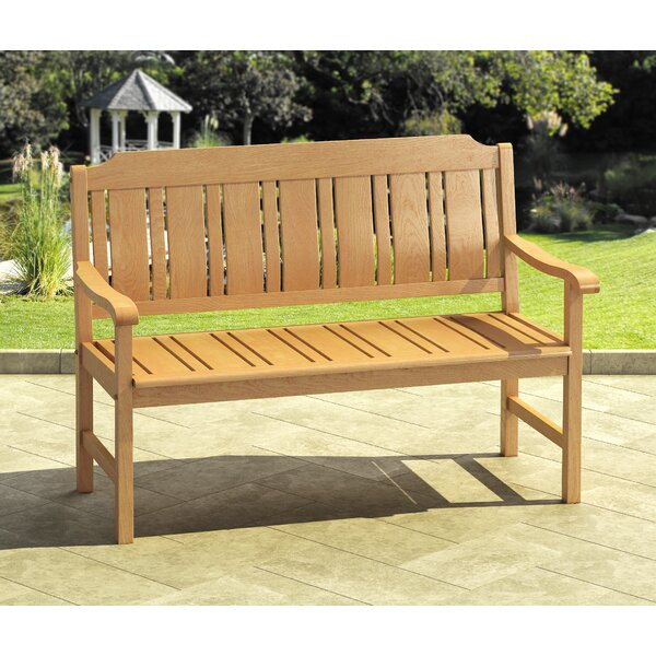 Isanti Wooden Garden Bench by Highland Dunes