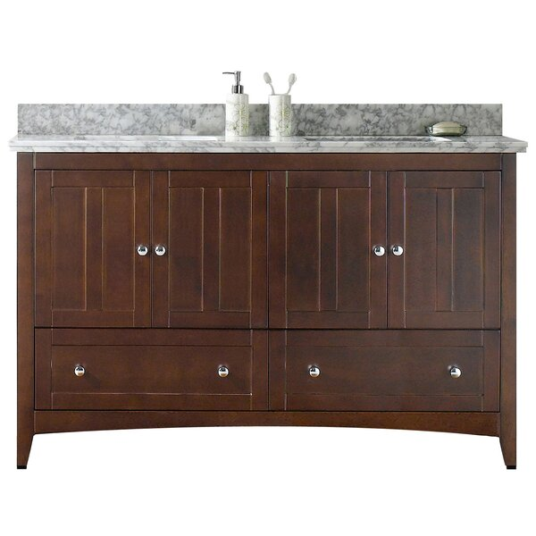 Nixon Floor Mount 59 Double Bathroom Vanity Set by Royal Purple Bath Kitchen