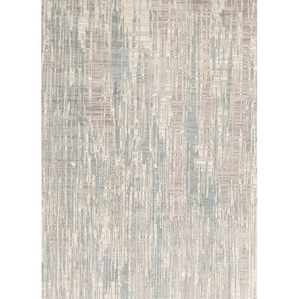Hand-Knotted Gray/Teal Area Rug