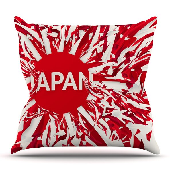 Japan by Danny Ivan Outdoor Throw Pillow by East Urban Home