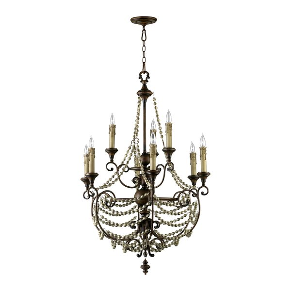 Meriel 9-Light Candle Style Tiered Chandelier by Cyan Design Cyan Design