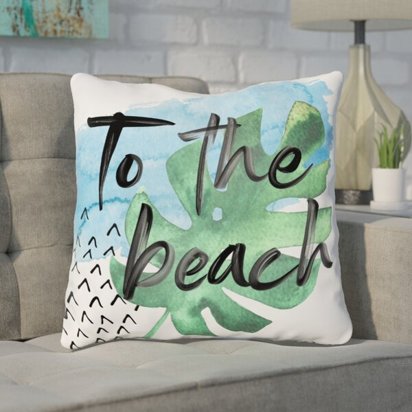 Tuers To The Beach Throw Pillow by Wrought Studio