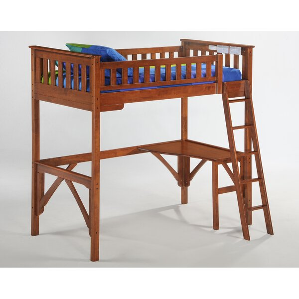 Raffa Bunk Bed with Curvy Desk by Harriet Bee