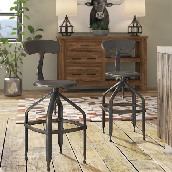 Flanagan Adjustable Height Swivel Bar Stool by Trent Austin Design