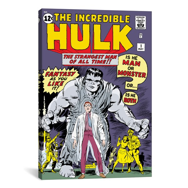 Marvel Comics Hulk Issue Cover Graphic Art on Wrapped Canvas by iCanvas