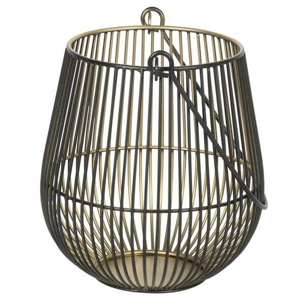 Iron Wire Two-Tone Metal Lantern by World Menagerie