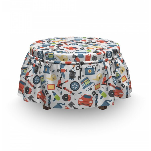 Car Repair Elements Ottoman Slipcover (Set Of 2) By East Urban Home