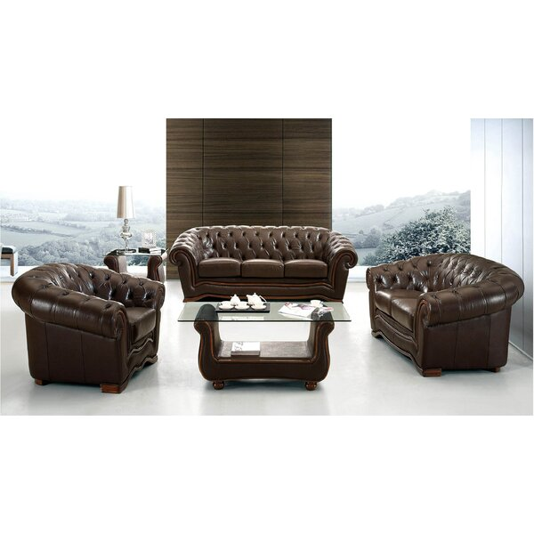 Barkell Leather Configurable Living Room Set by Canora Grey