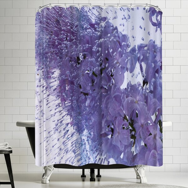 Zina Zinchik Floating Lilac Shower Curtain by East Urban Home