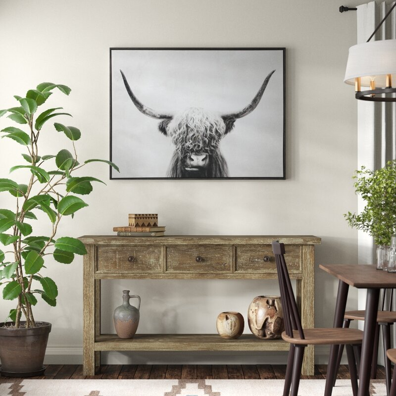 'Pancho' - Picture Frame Graphic Art Print on Wrapped Canvas, affordable home decor