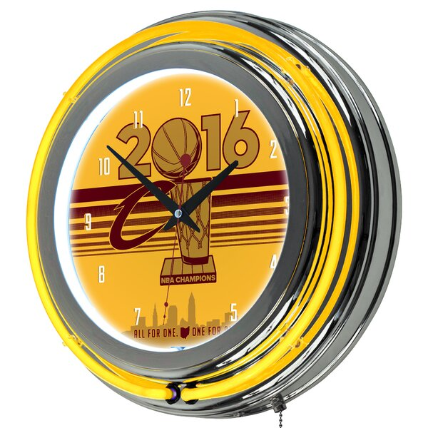 NBA Cleveland Cavaliers 2016 Champions 14.5 Wall Clock by Trademark Global