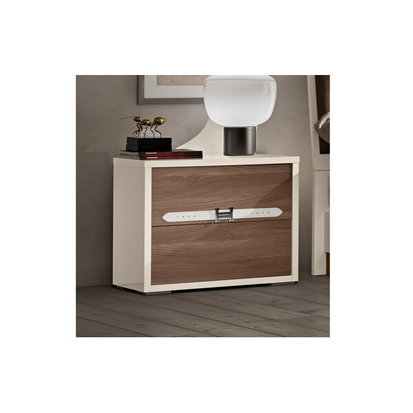 Winfrey Modern Style 2 Drawer Nightstand by Brayden Studio