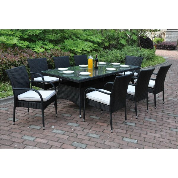 Shari 9 Piece Dining Set with Cushions by Darby Home Co