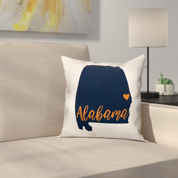 Alabama Pride Throw Pillow by East Urban Home