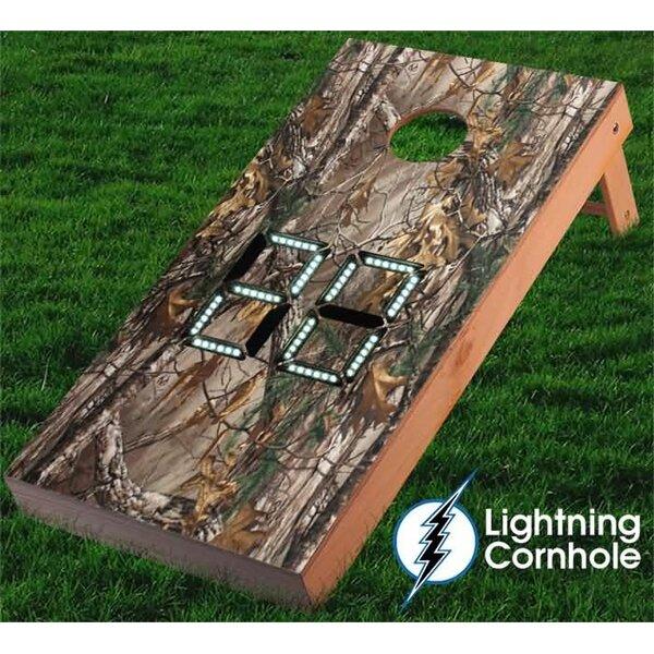 Electronic Scoring Camo Cornhole Board by Lightning Cornhole
