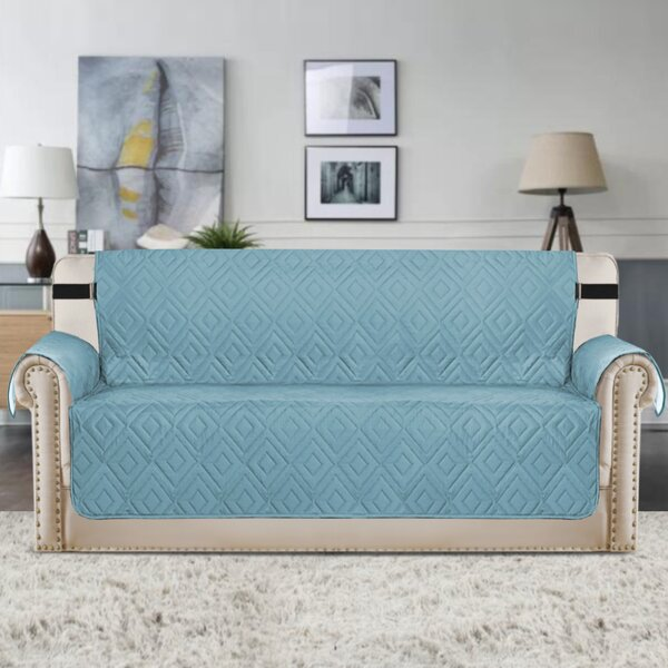 Upgraded Water Repellent Diamond Box Cushion Sofa Slipcover by Winston Porter