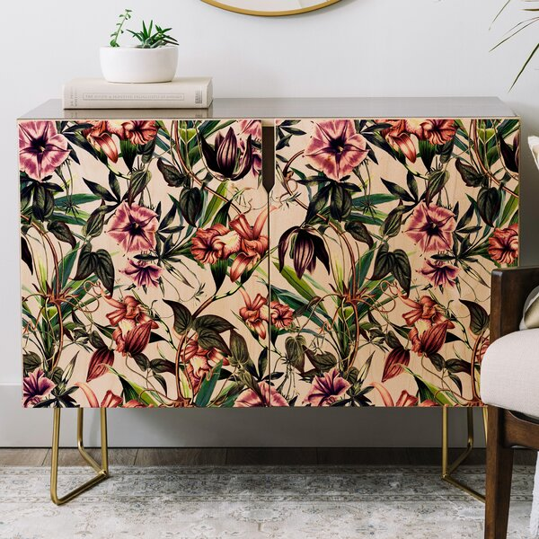 Marta Barragan Camarasa Blooms Credenza by East Urban Home East Urban Home