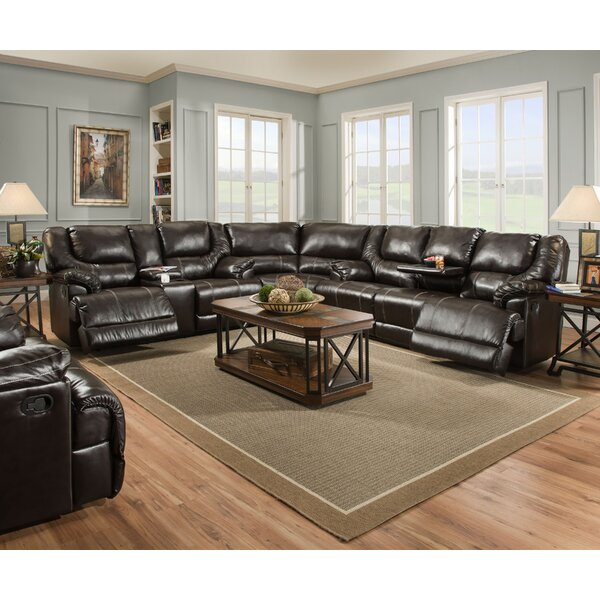 Starr Simmons Upholstery Reclining Sectional by Darby Home Co