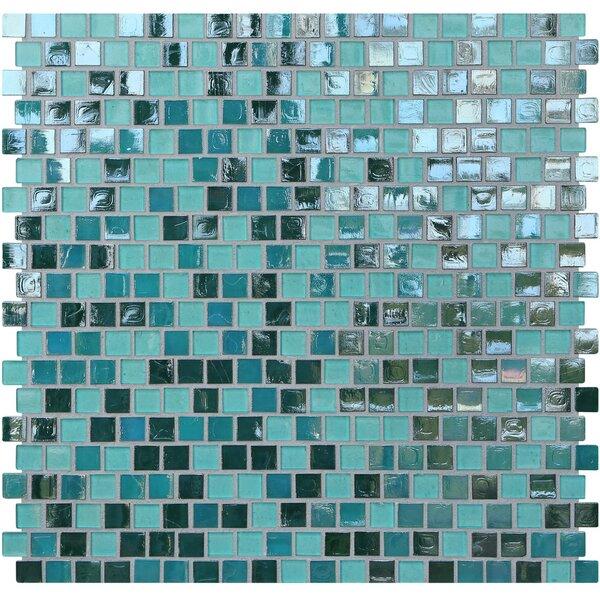 Opal 0.63 x 0.63 Glass Mosaic Tile in Blue Lagoon by Kellani