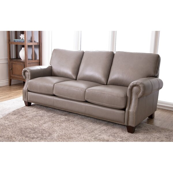 Carthage Leather Sofa by Darby Home Co