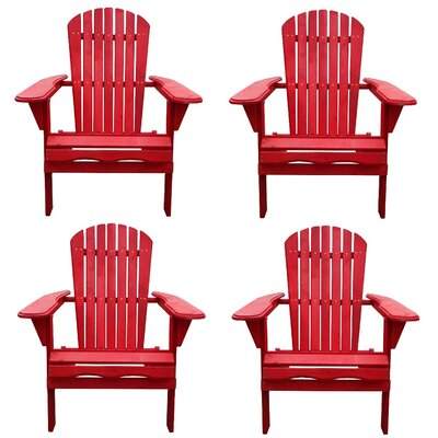 Red Adirondack Chairs You Ll Love In 2020 Wayfair