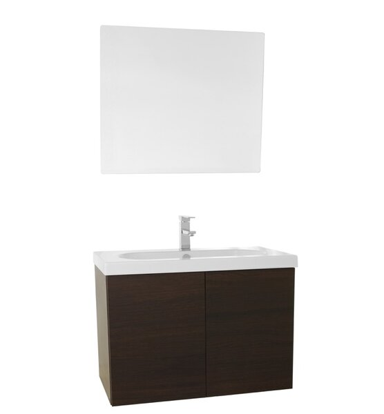 Trendy 31 Single Bathroom Vanity Set with Mirror by Nameeks Vanities