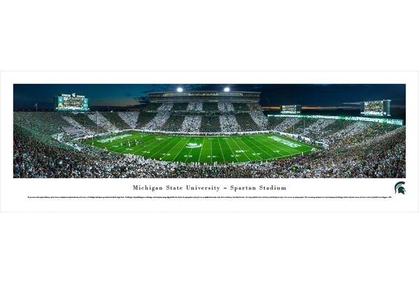 NCAA Michigan State University - Stripe - 50 Yd by James Blakeway Photographic Print by Blakeway Worldwide Panoramas, Inc