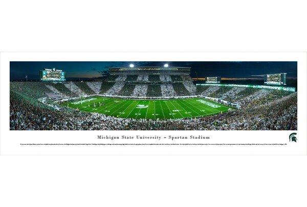 NCAA Michigan State University - Stripe - 50 Yd by James Blakeway Photographic Print by Blakeway Worldwide Panoramas, Inc
