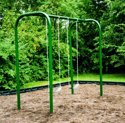 2-Place Arched Swing Set by Kidstuff Playsystems,