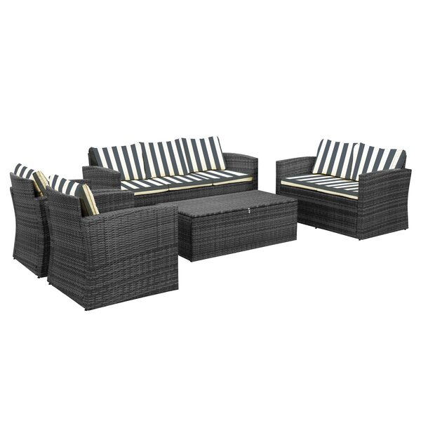 Arlington 5 Piece Rattan Sofa Seating Group With Cushions By Sol 72 Outdoor by Sol 72 Outdoor Looking for