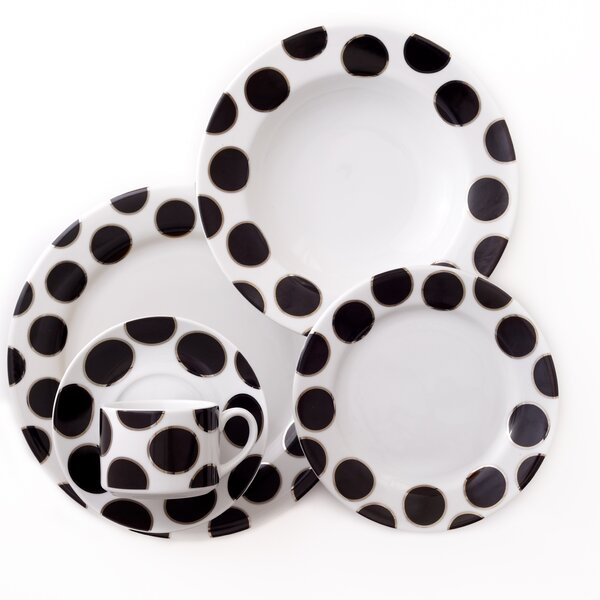 Black Pearl 5 Piece Place Setting, Service for 1 by Darbie Angell