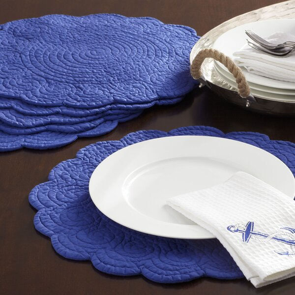 Scalloped Placemats (Set of 6) by Birch Lane™