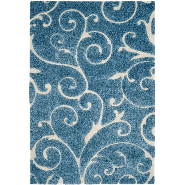 Alison Light Blue / Cream Area Rug by Three Posts