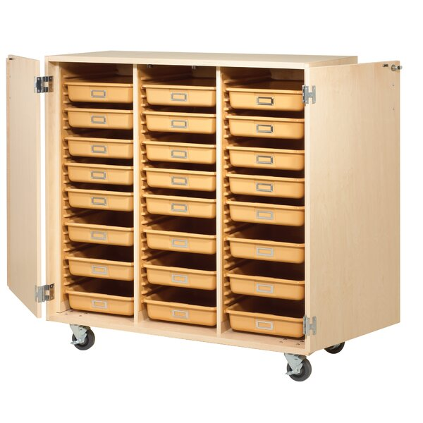 Tote Classroom Cabinet with Trays by Diversified Woodcrafts