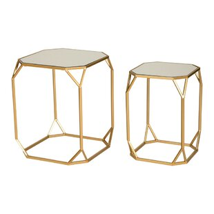 Affordable Huguley 2 Piece Nesting Tables ByMercer41