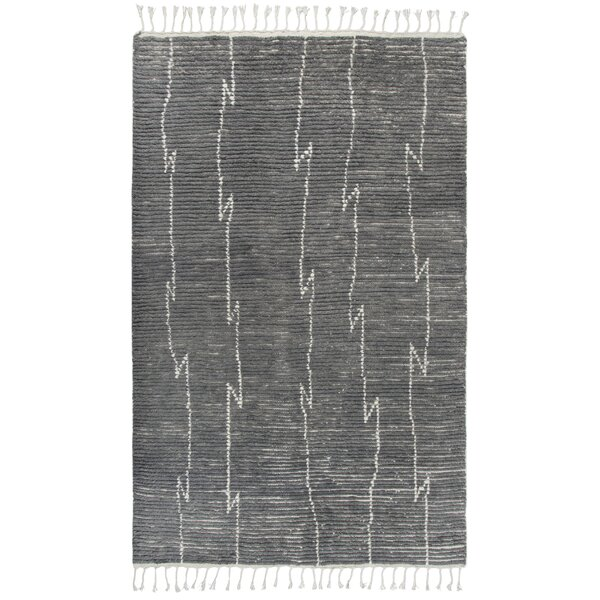 Doleman Hand-Knotted Wool Gray Area Rug by Bungalow Rose