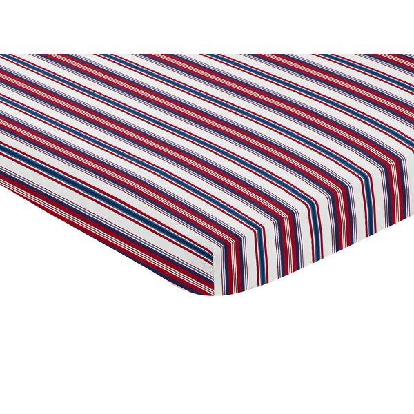 Baseball Patch Mini Fitted Crib Sheet by Sweet Jojo Designs