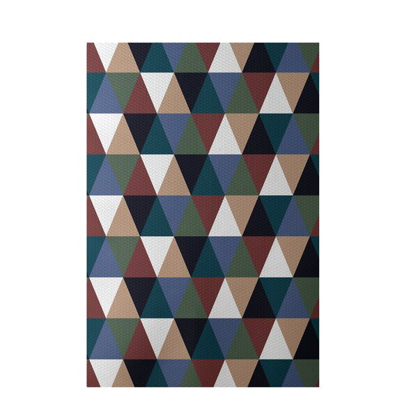 Geometric Rust Indoor/Outdoor Area Rug by e by design