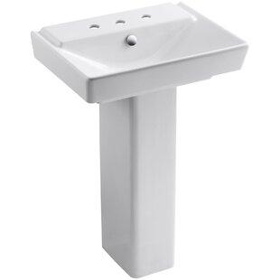 Shopping for Reve Ceramic 36 Pedestal Bathroom Sink with Overflow By Kohler
