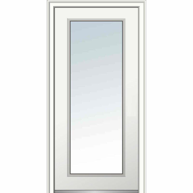 Full Lite Primed Prehung Front Entry Door  sc 1 st  Wayfair & Verona Home Design Full Lite Primed Prehung Front Entry Door | Wayfair