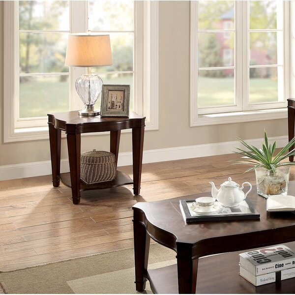 Recio End Table by Charlton Home