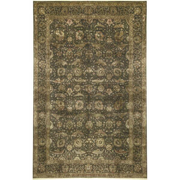 One-of-a-Kind Marquis Hand-Knotted Green 11'7 x 17'11 Wool Area Rug