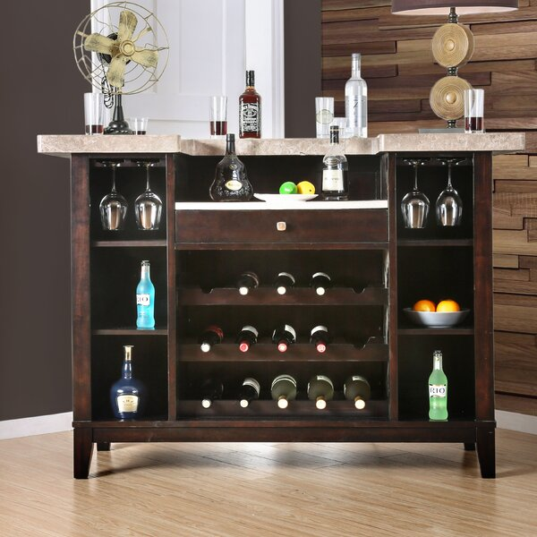 D'Amato Bar Table with Wine Storage by Darby Home Co Darby Home Co