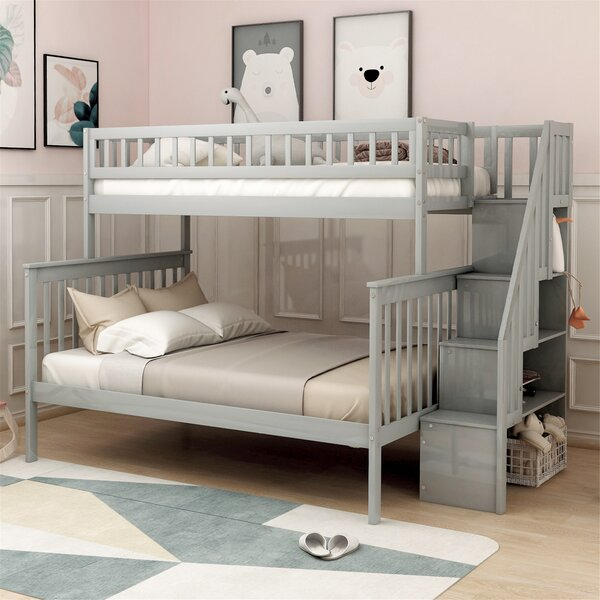 Colter Twin over Full Bunk Bed by Harriet Bee