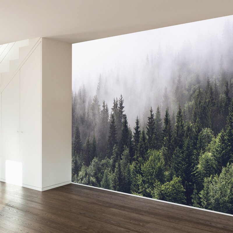 Walls need love misty forest 11 6 39 x 96 wall mural for I need art for my walls