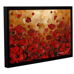 Poppies Framed Painting Print by Latitude Run