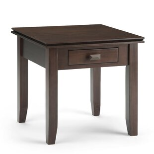Reviews Artisan End Table with Storage BySimpli Home